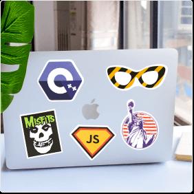 custom laptop stickers